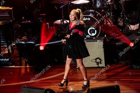 Raelynn performs at the 14th Annual ACM Honors at Ryman Auditorium, in Nashville, Tenn