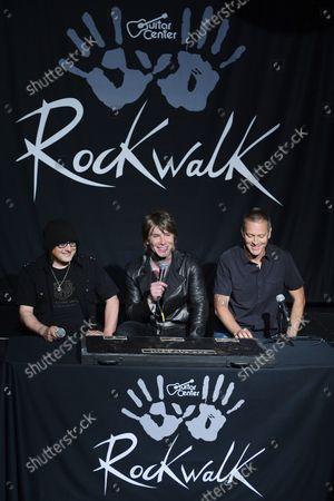 Editorial picture of Goo Goo Dolls Rockwalk, Los Angeles, California, United States - 07 May 2013