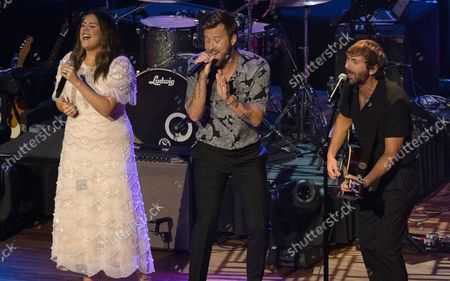 Charles Kelley, from left, Hillary Scott and Dave Haywood of Lady A