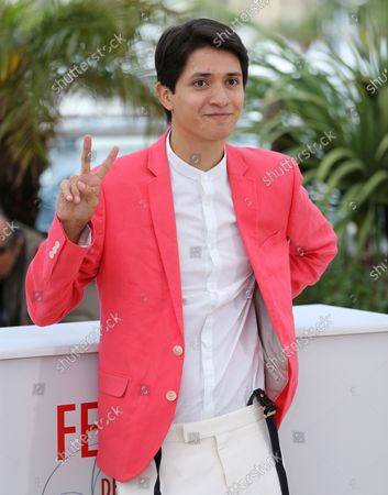 """Armando Espitia arrives at a photocall for the film """"Heli"""" during the 66th annual Cannes International Film Festival in Cannes, France on May 16, 2013."""