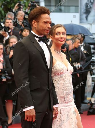 """Gary Dourdan and Isabella Orsini arrive on the red carpet before the screening of the film """"Jimmy P. Psychotherapy of a Plains Indian"""" during the 66th annual Cannes International Film Festival in Cannes, France on May 18, 2013."""