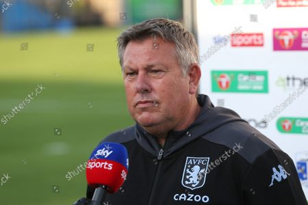 Aston Villa's assistant manger Craig Shakespeare during the Carabao Cup 2nd round match between Barrow and Aston Villa at Holker Street, Barrow-in-Furness on Tuesday 24th August 2021.