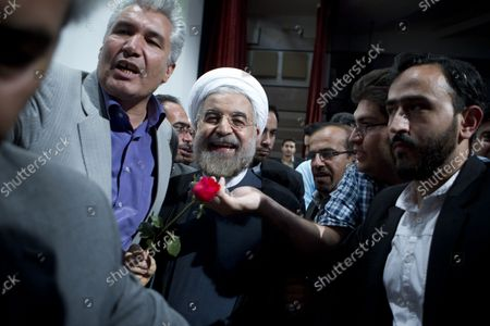Editorial photo of Iranian Presidential Candidate Hasan Rouhani delivers speech in Tehran, Iran - 30 May 2013