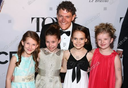 Gabriel Ebert, Sophia Gennusa, Bailey Ryon, Oona Laurence and Milly Shapiro arrive on the red carpet at the 67th Annual Tony Awards held at Radio City Music Hall on June 9, 2013 in New York City.