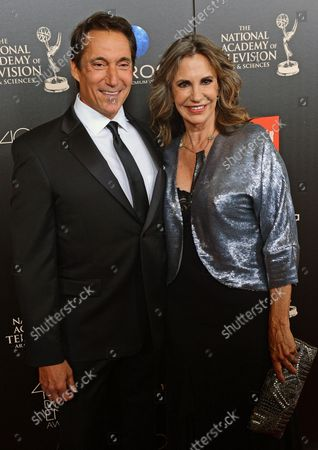 Michael Corbet and Jess Walton arrive for the 40th annual Daytime Emmy Awards at the The Beverly Hilton in Beverly Hills, California  on June 16, 2013.