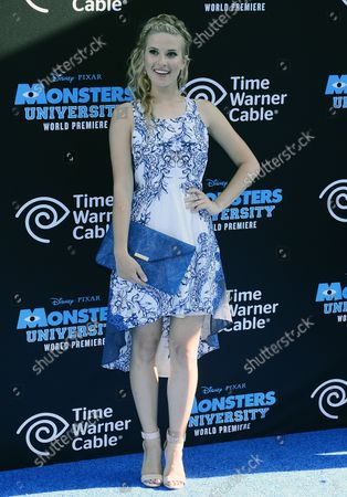 """Actress Caroline Sunshine arrives for the """"Monsters University"""" premiere at the El Capitan Theatre in the Hollywood section of Los Angeles on June 17, 2013."""