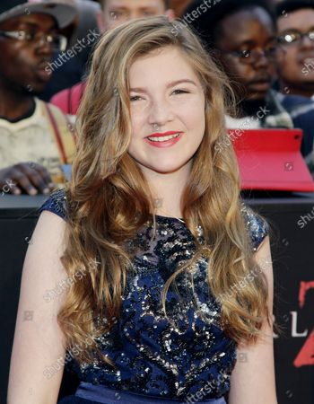 """Abigail Hargrove arrives on the red carpet at the New York Premiere of """"World War Z"""" in Times Square in New York City on June 17, 2013."""