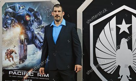 Stock Photo of Actor Robert Maillet arrives for the premiere of Pacific Rim at the Dolby Theater in the Hollywood section of Los Angeles on July 9, 2013.