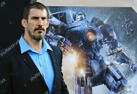 Actor Robert Maillet arrives for the premiere of Pacific Rim at the Dolby Theater in the Hollywood section of Los Angeles on July 9, 2013.