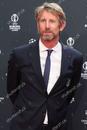 Former Dutch soccer goalkeeper Edwin van der Sar arrives for the UEFA Draw and Awards Ceremony at the Halic Congress Center in Istanbul, Turkey, 26 August 2021.