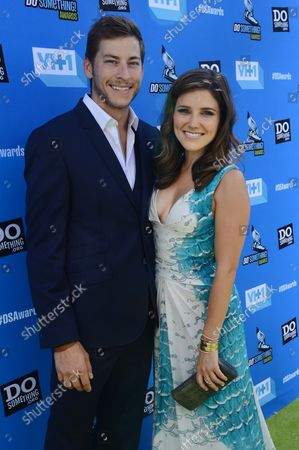 Stock Picture of Actress and show co-host Sophia Bush and Google executive Dan Fredinburg attend the Do Something Awards at the Avalon in the Hollywood section of Los Angeles on July 31, 2013.