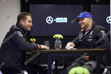 Stoffel Vandoorne and Valtteri Bottas, Mercedes  during the 2021 Formula One Belgian Grand Prix