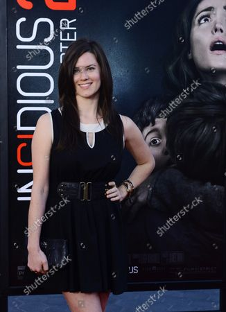 """Actress Katie Featherston attends the premiere of the motion picture horror thriller """"Insidious: Chapter 2"""" at Universal CityWalk in Universal City on September 10, 2013. Storyline: The haunted Lambert family seeks to uncover the mysterious childhood secret that has left them dangerously connected to the spirit world."""