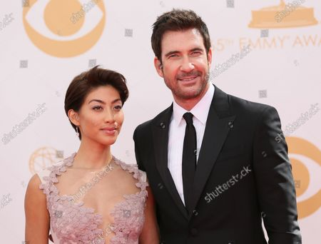 Actor Dylan McDermott (R) and Shasi Wells arrive for the 65th Primetime Emmy Awards at Nokia Theatre in Los Angeles on September 22, 2013.
