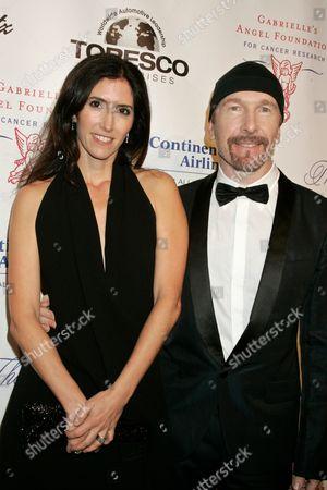 The Edge and Morleigh Steinberg (left)