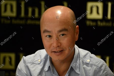 """American actor C. S. Lee  of the television series """"Dexter"""" takes part in a press conference about his experience in Israel, at the Inbal Hotel in Jerusalem, Israel, October 6, 2013. Lee is part of a delegation of American film and television actors who are visiting Israel with """"America's Voices in Israel""""."""