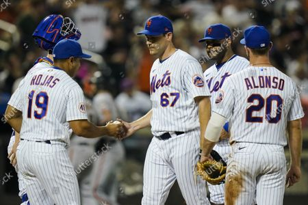 Editorial picture of Giants Mets Baseball, New York, United States - 26 Aug 2021