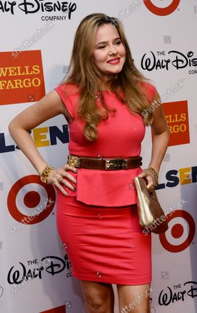 Actress Marieh Delfino arrives for the 9th annual GLSEN Respect Awards at the Beverly Hills Hotel in Beverly Hills, California on October 18, 2013. The awards presented honor leaders in the struggle against bullying in schools.