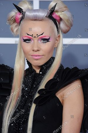 Singer Kerli arrives at the 55th annual Grammy Awards at Staples Center in Los Angeles on February 10, 2013.