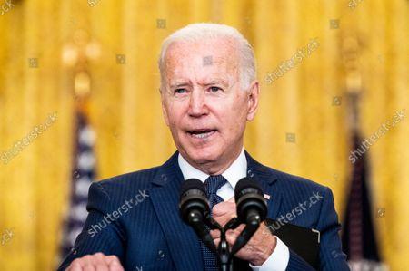 Editorial photo of President Joe Biden on the Attack at Kabul Airport in Washington, US - 26 Aug 2021