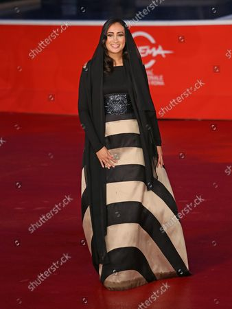 """Dana Keilani arrives on the red carpet before the screening of the film """"Border"""" during the 8th annual Rome International Film Festival in Rome on November 12, 2013."""