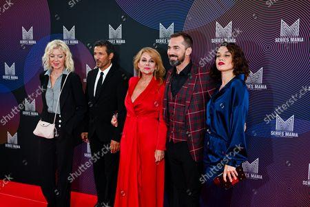 "Luce Mouchel, Kamel Belghazi, Ariane Seguillon, Franck Monsigny, Honorine Magnier of ""Demain nous appartient"""