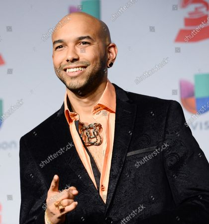Stock Photo of Singer 2NYCE appears backstage at the Latin Grammy Awards at the Mandalay Bay Events Center in Las Vegas, Nevada on November 21, 2013.