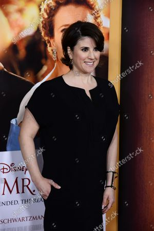 """Cast member Melanie Paxson attends the premiere of the biographical motion picture drama """"Saving Mr. Banks"""" , the untold backstory of how the classic film 'Mary Poppins' made it to the screen, at Walt Disney Studios in Burbank, California on December 9, 2013."""