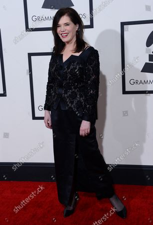 Lorraine Feather, nominated for Best Jazz Vocal arrives at the 56th annual Grammy Awards at Staples Center in Los Angeles on January 26, 2014.