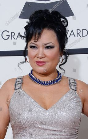 Recording artist Angelin Chang arrives for the 56th annual Grammy Awards at Staples Center in Los Angeles on January 26, 2014.