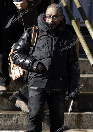 Spike Lee exits the funeral of Philip Seymour Hoffman at St. Ignatius Church on Manhattan's Upper East Side in New York City on February 7, 2014. Hoffman, 46, was found dead Sunday of an apparent heroin overdose in his apartment. He leaves behind his partner of 15 years, Mimi O'Donnell, and their three children.