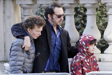 David Bar Katz enters the funeral of Philip Seymour Hoffman at St. Ignatius Church on Manhattan's Upper East Side in New York City on February 7, 2014. Hoffman, 46, was found dead Sunday of an apparent heroin overdose in his apartment. He leaves behind his partner of 15 years, Mimi O'Donnell, and their three children.