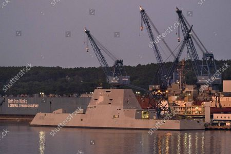 Editorial image of Stealth Destroyer, Bath, United States - 27 Aug 2021