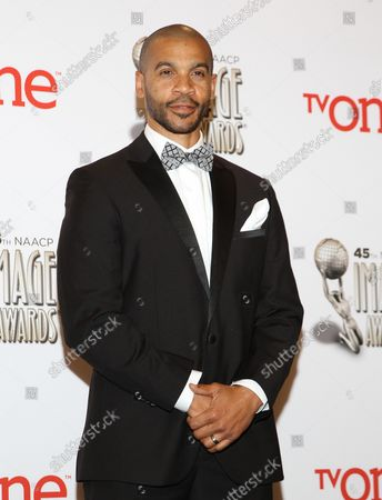 Actor Aaron D. Spears appears backstage at the 45th NAACP Image Awards at the Pasadena Civic Auditorium in Pasadena, California on February 22, 2014. The NAACP Image Awards celebrates the accomplishments of people of color in the fields of television, music, literature and film and also honors individuals or groups who promote social justice through creative endeavors.