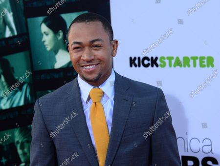 """Cast member Percy Daggs III attends the premiere of the motion picture dramatic comedy """"Veronica Mars"""" at TCL Chinese Theatre (formerly Grauman's) in the Hollywood section of Los Angeles on March 12, 2014."""