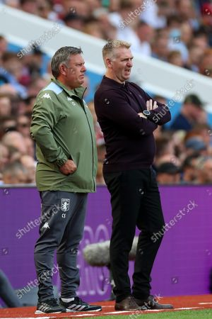 Stock Picture of Aston Villa manager Dean Smith and assistant Craig Shakespeare