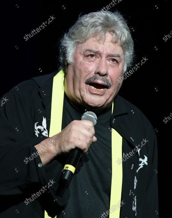 Stock Photo of Tony Orlando performing at Cousin' Brucie's Palisades Park reunion at PNC Bank Arts Center. August 26, 2021.