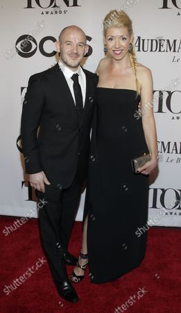 Stock Image of Steven Hoggett and Kelly Divine arrive on the red carpet at the 68th Tony Awards at Radio City Music Hall in New York City on June 8, 2014. The annual awards, which are presented by the American Theatre Wing, recognizes the achievements of Broadway theater.