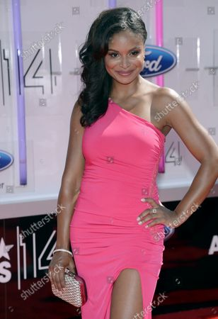 Actress Joyful Drake attends the 14th annual BET Awards at Nokia Theatre L.A. Live in Los Angeles on June 29, 2014. The award show spotlights the 50th anniversary of the Civil Rights Bill and its impact on America.