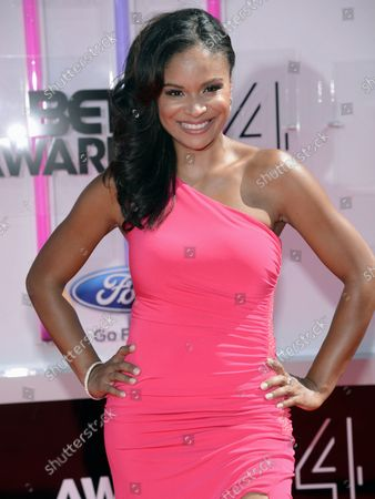 Stock Image of Actress Joyful Drake attends the 14th annual BET Awards at Nokia Theatre L.A. Live in Los Angeles on June 29, 2014. The award show spotlights the 50th anniversary of the Civil Rights Bill and its impact on America.