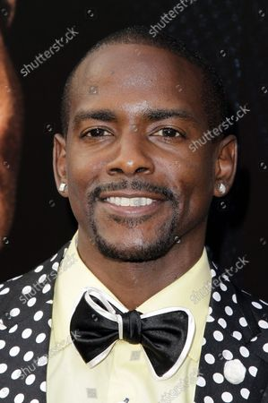 Keith Robinson arrives on the red carpet at the world premiere of 'Get On Up' at the Apollo Theater in New York City on July 21, 2014. The movie is a chronicle of James Brown's rise from extreme poverty to become one of the most influential musicians in history.