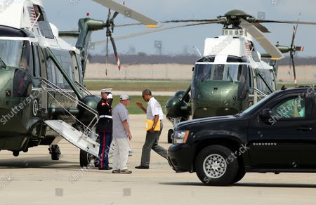 Editorial image of Obama Heads to Camp David, Washington, District of Columbia, United States - 02 Aug 2014