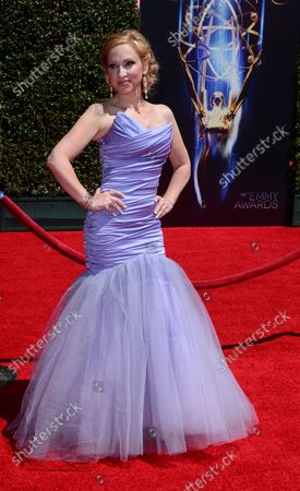 Actress Leigh-Allyn Baker attends the Creative Arts Emmy Awards at Nokia Theatre L.A. Live in Los Angeles on August 16, 2014.