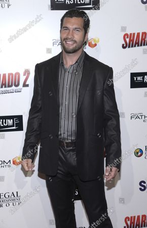 """Actor Marcus Shirock attends a screening of """"Sharknado 2: The Second One"""" at the Regal Cinemas LA Live Theater in Los Angeles on August 21, 2014."""