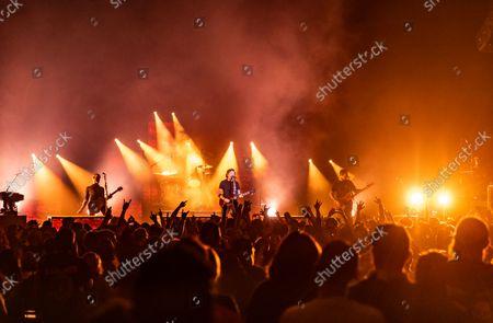 "Rise Against ""Nowhere Generation"" tour - Zach Blair, Tim McIlrath, Joe Principe"