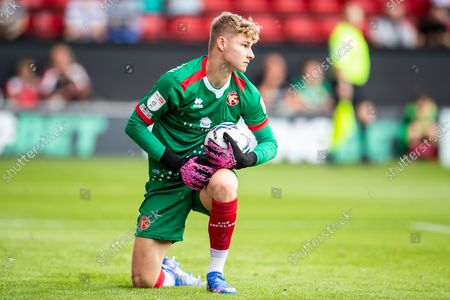 Walsall goalkeeper Carl Rushworth  (12)  during the EFL Sky Bet League 2 match between Walsall and Stevenage at the Banks's Stadium, Walsall