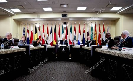 Editorial picture of US President Barack Obama meets with Defense Chiefs, Andrews, Maryland, United States - 14 Oct 2014