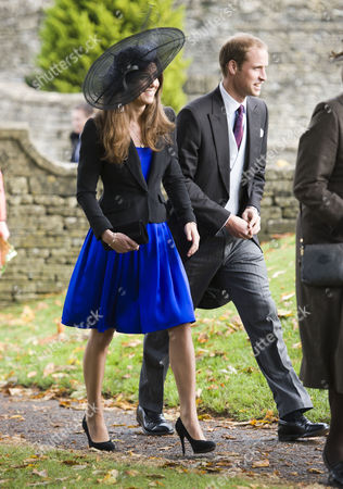 Editorial image of The wedding of Harry Meade to Rosemarie Bradford at St.Peter and St.Pauls church at Northleach, Gloucestershire, Britain - 23 Oct 2010