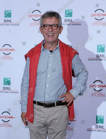"""Gianfelice Imparato arrives at a photo call for the film """"Buoni a nulla"""" during the 9th annual Rome International Film Festival in Rome on October 18, 2014."""