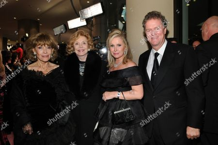 Veronique Peck, Barbara Sinatra, Kathy Hilton and Richard Hilton